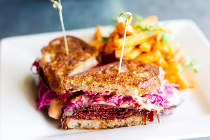 house cured pastrami melt